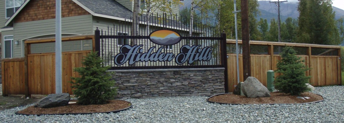 Hidden hills Sign